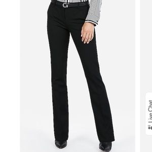 Express Black Columnist Barely Boot Work Pants